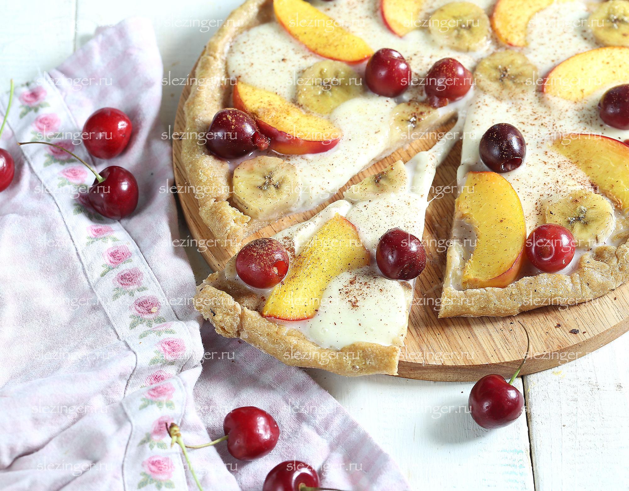 рецепт фруктовой пиццы с фото пошагово